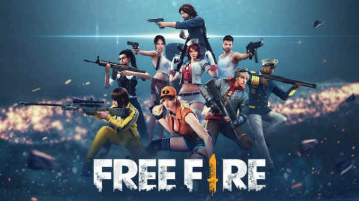 A Best Survival Game Free Fire,This Image Shows That , There are many players with different Atire , taking their weapons to shoot