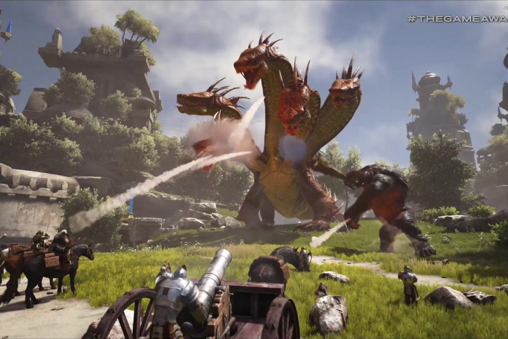 This image shows , There is Dragon as a villians fighting With Heroes