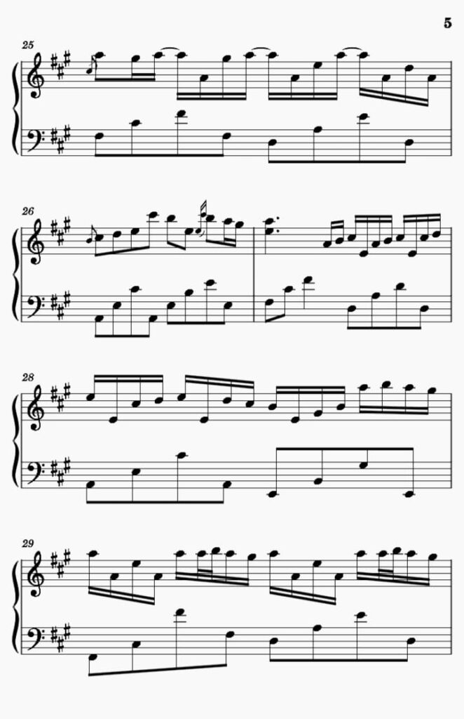 River Flows In You Piano notes